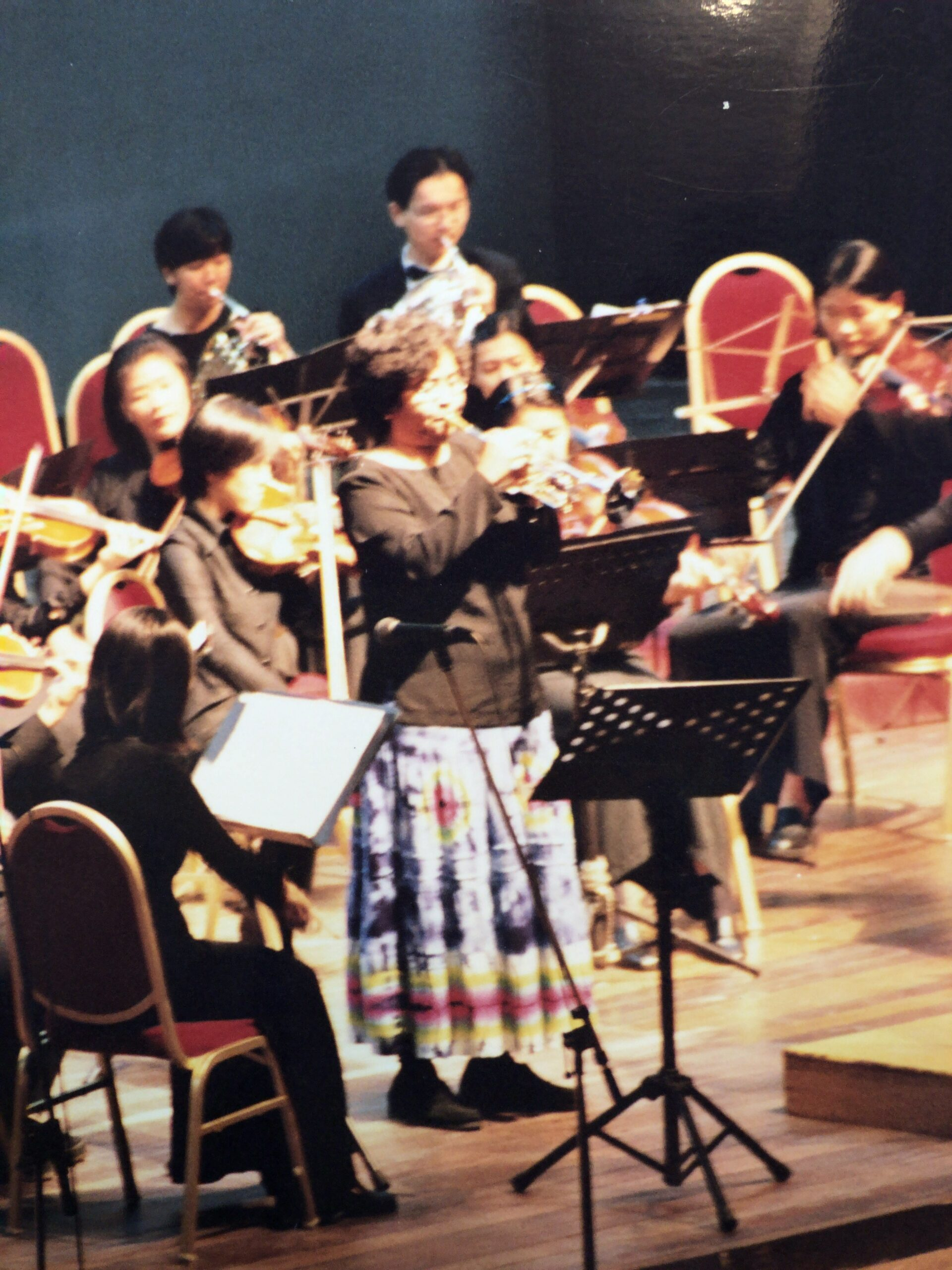 Trumpet concerto with university orchestra