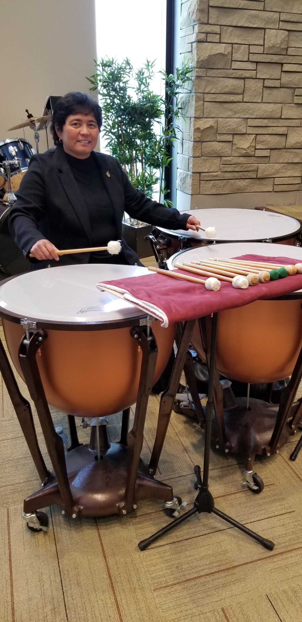 Timpanist with local community band