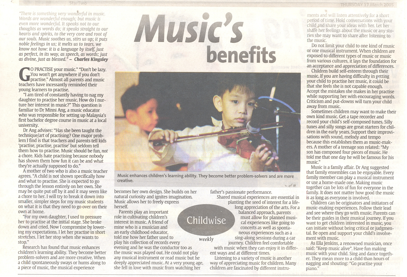 Article quoting me in the Star
